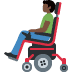 👨🏿‍🦼 man in motorized wheelchair: dark skin tone Emoji on Facebook Platform