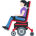 👩🏻‍🦼 Light Skin Tone Woman In Motorized Wheelchair Emoji on Facebook Platform