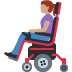 👩🏽‍🦼 woman in motorized wheelchair: medium skin tone Emoji on Facebook Platform