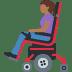 👩🏾🦼 woman in motorized wheelchair: medium-dark skin tone Emoji on Facebook Platform