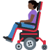 👩🏿‍🦼 woman in motorized wheelchair: dark skin tone Emoji on Facebook Platform