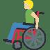 👨🏼🦽 Medium Light Skin Tone Man In Manual Wheelchair Emoji on Facebook Platform