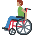 👨🏽‍🦽 man in manual wheelchair: medium skin tone Emoji on Facebook Platform