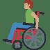 👨🏽🦽 man in manual wheelchair: medium skin tone Emoji on Facebook Platform