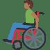 👨🏾🦽 man in manual wheelchair: medium-dark skin tone Emoji on Facebook Platform