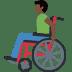 👨🏿🦽 man in manual wheelchair: dark skin tone Emoji on Facebook Platform