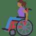 👩🏾🦽 woman in manual wheelchair: medium-dark skin tone Emoji on Facebook Platform