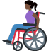 👩🏿‍🦽 woman in manual wheelchair: dark skin tone Emoji on Facebook Platform