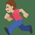 🏃🏼 Medium Light Skin Tone Person Running Emoji on Facebook Platform