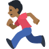 🏃🏾 person running: medium-dark skin tone Emoji on Facebook Platform