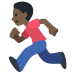 🏃🏿 person running: dark skin tone Emoji on Facebook Platform