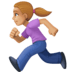 🏃🏼‍♀️ woman running: medium-light skin tone Emoji on Facebook Platform