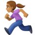 🏃🏽‍♀️ woman running: medium skin tone Emoji on Facebook Platform