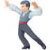 🕺🏻 man dancing: light skin tone Emoji on Facebook Platform