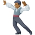 🕺🏾 man dancing: medium-dark skin tone Emoji on Facebook Platform