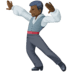🕺🏿 man dancing: dark skin tone Emoji on Facebook Platform