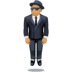 🕴🏽 man in suit levitating: medium skin tone Emoji on Facebook Platform