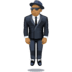 🕴🏾 man in suit levitating: medium-dark skin tone Emoji on Facebook Platform