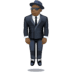 🕴🏿 man in suit levitating: dark skin tone Emoji on Facebook Platform
