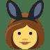 👯 people with bunny ears Emoji on Facebook Platform