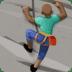 🧗🏿♂️ Dark Skin Tone Man Rock Climbing Emoji on Facebook Platform