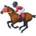 🏇🏿 horse racing: dark skin tone Emoji on Facebook Platform