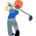 🏌️ person golfing Emoji on Facebook Platform