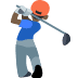 🏌🏿 person golfing: dark skin tone Emoji on Facebook Platform