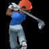 🏌🏿♂️ man golfing: dark skin tone Emoji on Facebook Platform