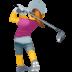 🏌️♀️ woman golfing Emoji on Facebook Platform