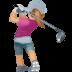 🏌🏼♀️ woman golfing: medium-light skin tone Emoji on Facebook Platform