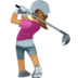 🏌🏽‍♀️ woman golfing: medium skin tone Emoji on Facebook Platform