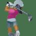 🏌🏾♀️ woman golfing: medium-dark skin tone Emoji on Facebook Platform