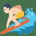 🏄🏻 person surfing: light skin tone Emoji on Facebook Platform