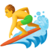 🏄‍♂️ man surfing Emoji on Facebook Platform