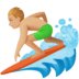 🏄🏼‍♂️ man surfing: medium-light skin tone Emoji on Facebook Platform