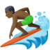 🏄🏿‍♂️ man surfing: dark skin tone Emoji on Facebook Platform