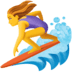 🏄‍♀️ woman surfing Emoji on Facebook Platform