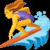 🏄♀️ woman surfing Emoji on Facebook Platform