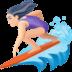 🏄🏻♀️ woman surfing: light skin tone Emoji on Facebook Platform
