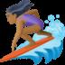 🏄🏾♀️ woman surfing: medium-dark skin tone Emoji on Facebook Platform