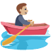 🚣🏼 person rowing boat: medium-light skin tone Emoji on Facebook Platform
