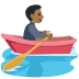 🚣🏾 person rowing boat: medium-dark skin tone Emoji on Facebook Platform