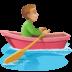 🚣🏼♂️ man rowing boat: medium-light skin tone Emoji on Facebook Platform