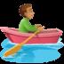 🚣🏽♂️ man rowing boat: medium skin tone Emoji on Facebook Platform