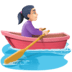 🚣🏻♀️ woman rowing boat: light skin tone Emoji on Facebook Platform