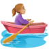 🚣🏼‍♀️ woman rowing boat: medium-light skin tone Emoji on Facebook Platform