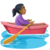 🚣🏾‍♀️ Medium Dark Skin Tone Woman Rowing Boat Emoji on Facebook Platform