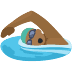 🏊🏾 person swimming: medium-dark skin tone Emoji on Facebook Platform