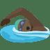 🏊🏿 person swimming: dark skin tone Emoji on Facebook Platform